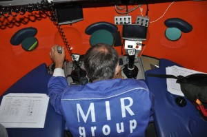 On board a Mir submarine in Lake Geneva